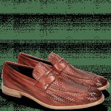 Loafers Eddy 44  Haring Bone Weave Ruby Lining Nappa
