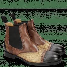 Ankle boots Phil 17 Black Mogano Rio Brazil Sand Gold Fondo