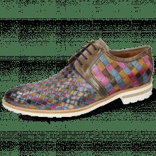 Derby shoes Brad 1 Vegas Woven Multi Stone