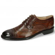 Derby shoes Henry 7  Pisa Mid Brown Wood Tortora Ash