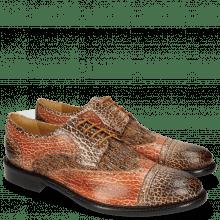 Derby shoes Henry 7 Brazil Mogano Winter Orange
