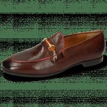 Loafers Scarlett 45 Pisa Mid Brown Binding Fuxia