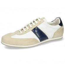 Sneakers Pharell 12 Suede Ivory Nappa White Turtle Navy