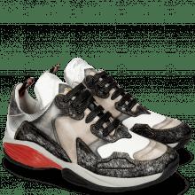 Sneakers Flo 1 Hairon Silver Stone Milled White Black Cherso