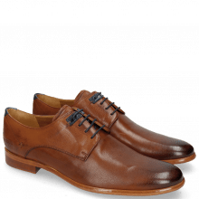 Derby shoes Clint 1 Pavia Tan Deco Pieces Electric Blue