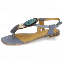 Sandals Vicky 11 Grafi Moroccan Blue Vegas White Navy Turquoise