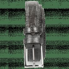 Belts Linda 1 Crock Grigio Classic Buckle
