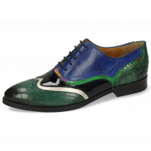 Oxford shoes Jessy 13 Crock Pine Nappa Aztek Gold Soft Patent Oriental Saphir Korela Green