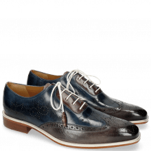 Oxford shoes Jeff 27 Grigio Helio Wine