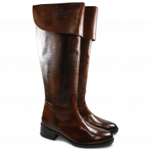 Boots Elaine 10 Crust Wood Guana Wood without Lasercut HRS