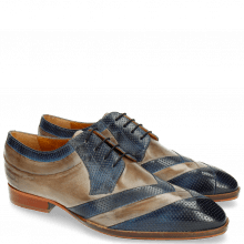 Derby shoes Ricky 8 Perfo Moroccan Blue Oxygen