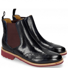 Ankle boots Selina 6 Navy Elastic Burgundy