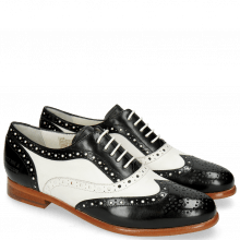 Oxford shoes Selina 30 Black Nappa White