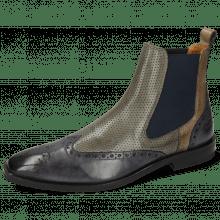 Ankle boots Alex 9 Berlin Navy Perfo Smoke Grigio