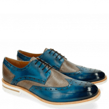 Derby shoes Eddy 5 Perfo Bluette Morning Grey Aspen White
