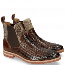 Ankle boots Brad 9 Woven Mid Brown Hairon Halftone Mogano
