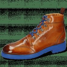 Ankle boots Trevor 5 Cognac Laces Electric Blue