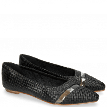 Ballet Pumps Alexa 19 Mignon Black Trans Natural Woven