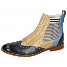Ankle boots Amelie 5 Vegas Navy Wind Perfo Sand