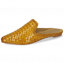 Mules Lydia 2 Woven Scale Yellow Lining