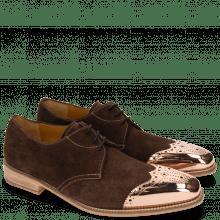 Derby shoes Lance 4 MTC Suede Pattini Dark Brown LS Raw