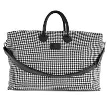 Travel Bags Duffy Tweed Black White