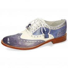 Oxford shoes Amelie 70 Vegas Moroccan Blue White Cherso Silver Wind