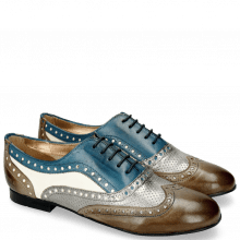 Oxford shoes Xia 2 Rio Smoke Perfo Steel Mid Blue White