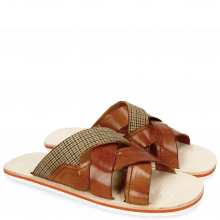 Sandals Sam 12 Tan Textile English Yellow