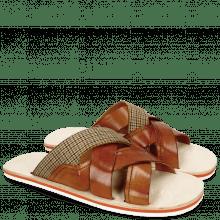 Sandals Sam 12 Tan Textile English Yellow
