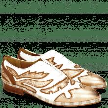 Oxford shoes Jessy 43 Rio White Talca Rose Gold