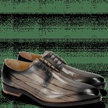 Derby shoes Kylian 4 Cognac Lines Burgundy