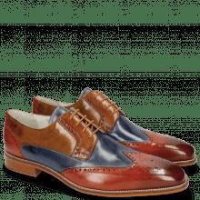 Derby shoes Jeff 14 Orange Moroccan Blue Tan Sand