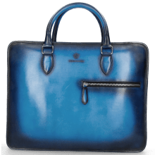 Leather briefcases Montreal M Vegas Bluette Shade Navy