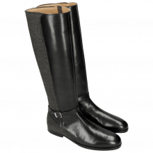 Boots Susan 71 Black Felt Grey HRS
