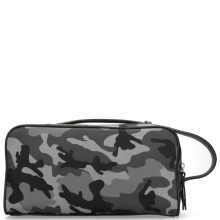 Toiletry bags Palermo Textile Camo Grey Milled Black