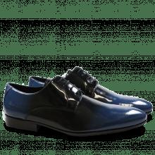 Derby shoes Paul 5 Patent Black Blue HRS Black
