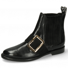 Ankle boots Selina 46 Black Suede Strap Gold