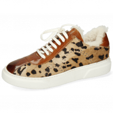 Sneakers Hailey 5 Wood Hairon Lince Beige Tan Wood