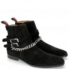Ankle boots Elvis 45 Suede Pattinni Black Chain