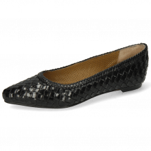 Ballet Pumps Lydia 3 Woven Scale Black Lining