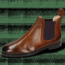 Ankle boots Susan 10 Wood Elastic Purple Lining Nappa Beige