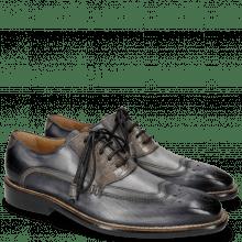Oxford shoes Marvin 12 Navy Crock Grigio