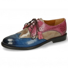 Derby shoes Selina 41 Bluette Oxygen Lilac Tassel