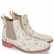 Ankle boots Ella 5 Suede White Dots Multi