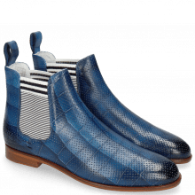 Ankle boots Susan 10 Vegas Turtle Perfo Mid Blue