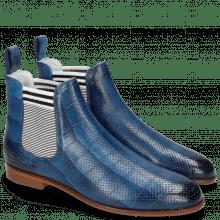 Ankle boots Susan 10 Vegas Turtle Perfo Mid Blue