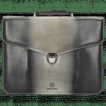 Leather briefcases Hamilton Vegas Grigio Shade London Fog