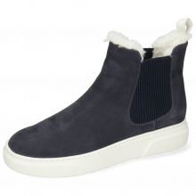 Ankle boots Hailey 2 Como Navy Sherling Light White
