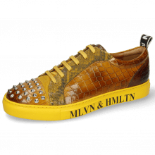 Sneakers Harvey 12 Crock Sun Suede Pattini Snake Indy Yellow
